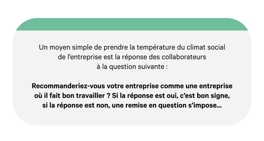 Climat social entreprise